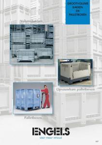GROOTVOLUME BAKKEN EN PALLETBOXEN. Volumebakken. Opvouwbare palletboxen. Palletboxen. voor meer inhoud L57