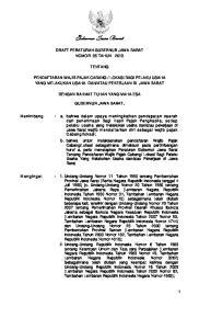 Gubernur Jawa Barat DRAFT PERATURAN GUBERNUR JAWA BARAT NOMOR 35 TAHUN 2013 TENTANG