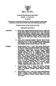 Gubernur Jawa Barat PERATURAN GUBERNUR JAWA BARAT NOMOR : 44 TAHUN 2011 TENTANG