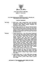 Gubernur Jawa Barat PERATURAN GUBERNUR JAWA BARAT NOMOR 73 TAHUN 2010