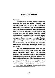GURU TIGA ZAMAN. Suatu Analisis Kebijakan. Jakarta:Grasindo, 1995, hal Gaji guru pada akhir abad ke-19 tidak kurang dari gaji Wedana, sehingga