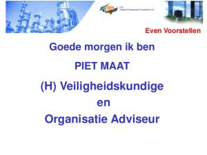 (H) Veiligheidskundige en Organisatie Adviseur