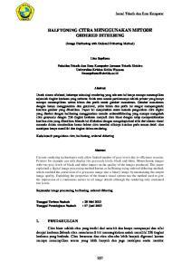 HALFTONING CITRA MENGGUNAKAN METODE ORDERED DITHERING