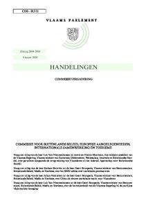 HANDELINGEN COMMISSIE VOOR BUITENLANDS BELEID, EUROPESE AANGELEGENHEDEN, INTERNATIONALE SAMENWERKING EN TOERISME C133 BUI12