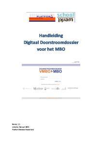 Handleiding Digitaal Doorstroomdossier voor het MBO