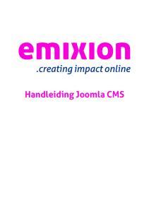Handleiding Joomla CMS
