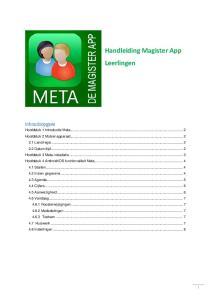 Handleiding Magister App Leerlingen