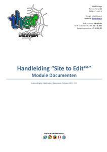 Handleiding Site to Edit Module Documenten