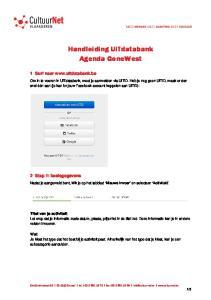 Handleiding UiTdatabank Agenda GoneWest