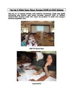 Hari ke-4 Diklat Know About Business (KAB) di VEDC Malang