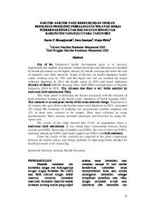 Harto P. Simanjuntak 1, Heru Santosa 2, Maya Fitria 2. Abstract