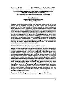 Hendrawan Jurnal MIX, Volume III, No. 1, Febuari 2013
