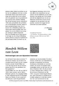 Hendrik Willem van Loon. Herinneringen aan een bijzondere Veerenaar