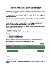HENYIR felhasználói dokumentáció
