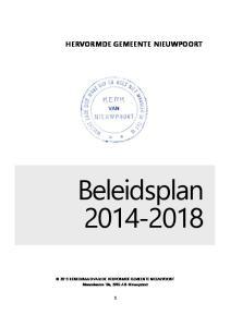 HERVORMDE GEMEENTE NIEUWPOORT. Beleidsplan KERKENRAAD VAN DE HERVORMDE GEMEENTE NIEUWPOORT Binnenhaven 19a, 2965 AB Nieuwpoort