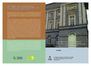 Het debat rond de federale culturele en wetenschappelijke instellingen ( )