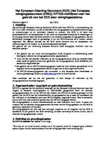 Het European Cleaning Document (ECD) [Het Europees reinigingsdocument (ERD)]: EFTCO-richtlijnen voor het gebruik van het ECD door reinigingsstations