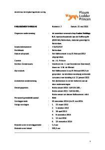 Het faillissement is op 21 februari 2012 uitgesproken