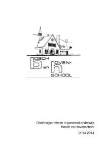 Het onderwijsprofiel Bosch en Hovenschool