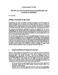 Het recht op werk: een antwoord op de problematiek van armoede en uitsluiting?
