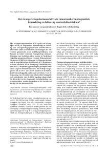Het zwangerschapshormoon hcg als tumormarker in diagnostiek, behandeling en follow-up van trofoblastziekten*