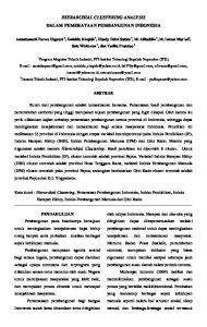 HIERARCHIAL CLUSTERING ANALYSIS DALAM PEMERATAAN PEMBANGUNAN INDONESIA