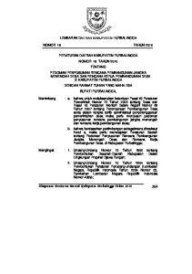 Himpunan Peraturan Daerah Kabupaten Purbalingga Tahun