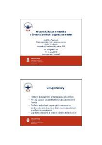 Historická fakta a mezníky v činnosti profesní organizace sester