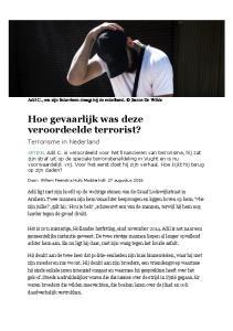 Hoe gevaarlijk was deze veroordeelde terrorist?