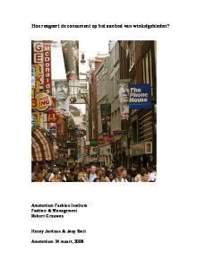 Hoe reageert de consument op het aanbod van winkelgebieden?