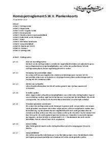 Homespotreglement S.W.V. Plankenkoorts 30 september 2014