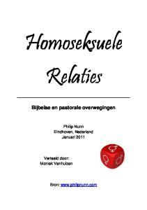 Homoseksuele Relaties