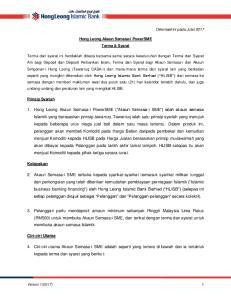 Hong Leong Akaun Semasa-i PowerSME Terma & Syarat