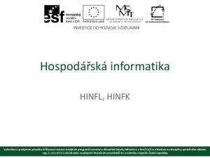 Hospodářská informatika