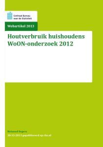Houtverbruik huishoudens WoON-onderzoek 2012