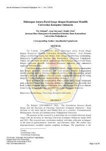 Hubungan Antara Brand Image dengan Keputusan Memilih Universitas Komputer Indonesia