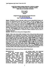 HUBUNGAN BEBAN KERJA PERAWAT DENGAN CARING PERAWAT DI INSTALASI GAWAT DARURAT MEDIK PROF. DR. R. D. KANDOU MANADO. Robot Angelina Lucky Kumaat Mulyadi