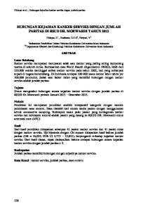 HUBUNGAN KEJADIAN KANKER SERVIKS DENGAN JUMLAH PARITAS DI RSUD DR. MOEWARDI TAHUN 2013