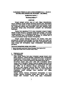 HUBUNGAN PENGELOLAAN ALIRAN SEDIMEN HULU HILIR DI BATANG ANAI (BAGIAN WS. INDRAGIRI AKUAMAN) SUMATERA BARAT 1) Bambang Istijono 2)