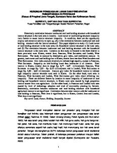 HUBUNGAN PENGUASAAN LAHAN DAN PENDAPATAN RUMAHTANGGA DI PEDESAAN (Kasus di Propinsi Jawa Tengah, Sumatera Barat dan Kalimantan Barat)