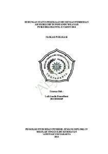 HUBUNGAN STATUS PEKERJAAN IBU DENGAN PEMBERIAN ASI EKSKLUSIF DI POSYANDU WILAYAH PUSKESMAS BANTUL II TAHUN 2014 NASKAH PUBLIKASI