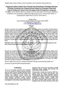 Hudalila Safitri, Pengaruh Kualitas Sumber Daya Manusia dan Pemanfaatan Teknologi Informasi