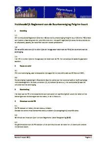 Huishoudelijk Reglement van de Buurtvereniging Pelgrim-buurt