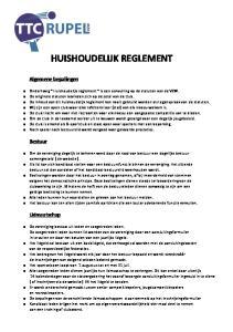 HUISHOUDELIJK REGLEMENT