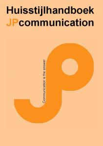 Huisstijlhandboek JPcommunication