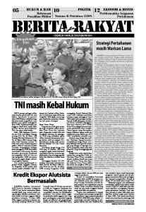 hukum & ham politik ekonomi & bisnis Reformasi ntuk Untu SEMUA HARUS DIKABARKAN TNI masih Kebal Hukum