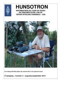 HUNSOTRON INFORMATIEBLAD VOOR DE RADIO- EN ZENDAMATEURS VAN DE VERON AFDELING HUNSINGO A60