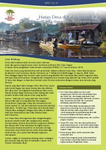 Hutan Desa di Kalimantan Barat: langkah maju untuk kepemilikan dan keamanan tanah?