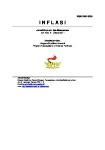 I N F L A S I. Jurnal Ekonomi dan Manajemen Vol. 2 No. 1 - Oktober 2011