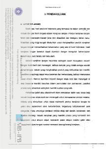 I. PENDAHULUAN Salah satu hasil produksi lndonesia yang termasuk ke dalam komoditi non
